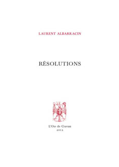 Résolutions de Laurent Albarracin